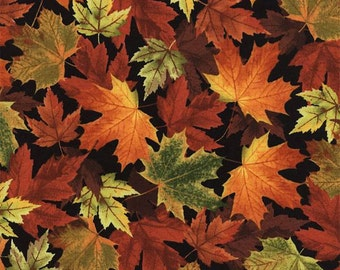 Timeless treasures Autumn Trail Leaves  Fabric by the yard or select cut C4978-LEAF