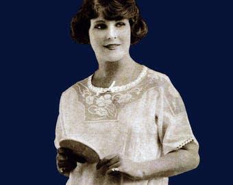 Anne Orr #20 c.1921 Vintage Pattern Book Crochet Yokes & Lingerie Flapper Style (PDF EBook - Digital Download)