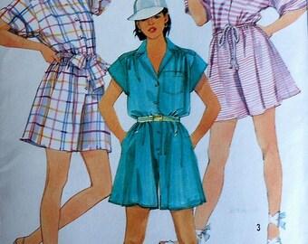 Vintage Romper Sewing Pattern UNCUT Simplicity 6801 Sizes 10-14