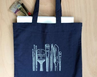 Hand printed art bag