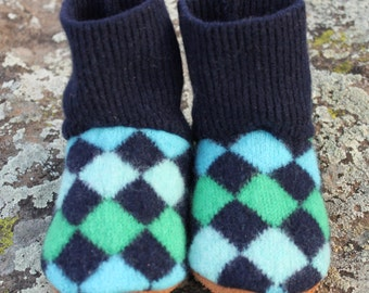 Wool Toddler Slippers: 6-12mo.