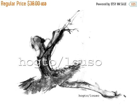 christmas sale swan lake or russian ballerina, ballet drawing, art print, ballet art, ballerina gift, dance teacher gift, black and white ar