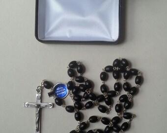 NIB Sherman Pewter Rosary - Original Tag