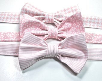 Blush Bow Ties Wedding Bow Ties Pink Bow Ties Groomsmen Bow Ties Custom Bow Ties Freestyle Bow Ties