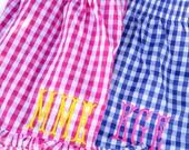 Monogram Ruffle pajama shorts size MEDIUM/LARGE