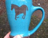 CUSTOM horse mug for Christina