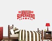 Future Superhero - Nursery and Kids Room Playroom Wall Decals
