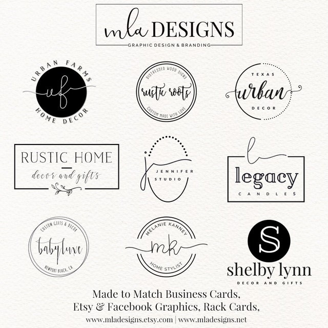 premade logos custom logos graphics and branding by mladesigns