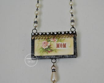 MoM necklace with solder charm