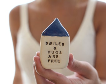 Personalized gift Smiles and hugs are free Personalized gift  Office decor