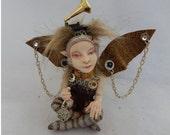 Professor Agatha Melville Steampunk OOAK Fairy Fairies Art Doll Figurine NEW Scultpure Polymer Clay