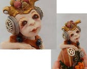 Bolt Steampunk Snail Elf OOAK Fairy Sculpture Art Doll Fairies New Figurine Anthropomorphic Gears