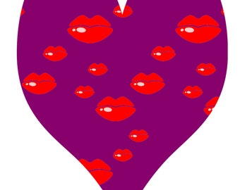 Lip Heart Shape Background C-Gift Tag-Gift Card-Jewelry-T-Shirt-Digital Clipart-Website-Banner-Notebook-Scrapbook.
