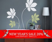 New Year's Sale - Cyclamen Flower Set Decal - Vinyl Wall Decals