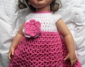 Crochet Pattern - Katie Doll Dress AG 18 inch doll Pattern - PDF PATTERN Doll Dress and Flower