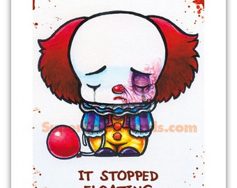 Super Emo Pennywhy the super emo clown | stopped floating | print