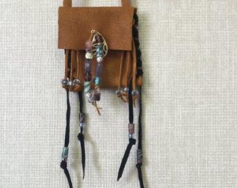 Elk skin Boho medicine bag
