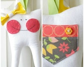 Tooth Fairy Pillow with Bow (Sunshine)-READY TO SHIP