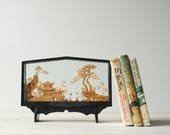 Vintage Chinese Carved Cork Diorama