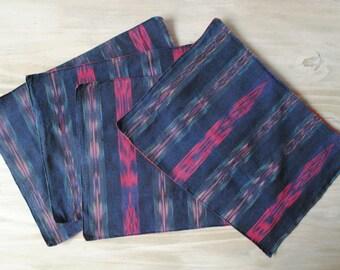 Vintage Ikat Placemats, Set of 4, Blue Placemats