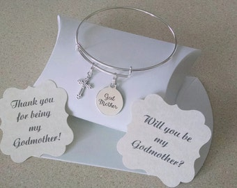 Godmother Jewelry, Godmother Bracelet, Godmother Gift, Thank You For Being My Godmother, For Godmother