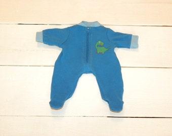 Royal Blue Footed Sleeper - 12 inch boy doll clothes