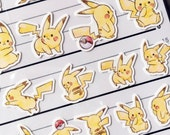 4 Size Pokémon Pikachu sheet of Stickers for scrapbooking, gift message, Bookmark, Packaging, Party favor