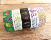 Limited Edition mt Japanese Washi Masking Tape Vol.8 - Patterns, Outdoor, Filament, Herbs and Fruits at your choice
