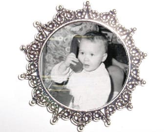 Silver Wedding Memorial Brooch - FREE SHIPPING