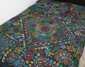 South Asian Folk Art Handstitched Needlepoint Cotton Quilt Nakshi Kantha