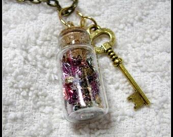 Bottle Pendant - Glass Bottle Necklace - Glass Pendant - My Muse - Glass Bottle Pendant - GB-5