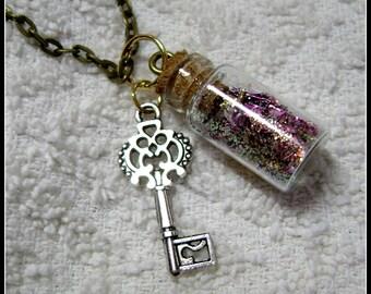 Bottle Pendant - Glass Bottle Necklace - Glass Pendant - My Muse - Glass Bottle Pendant - GB-7