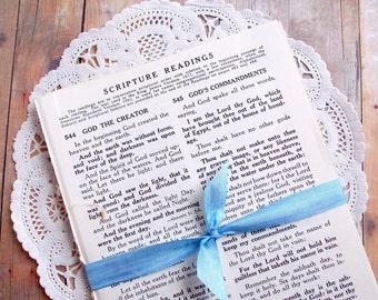 Bundle of Vintage Hymnal Scripture Pages / 20 Pieces / Vintage Ephemera / Music Sheets