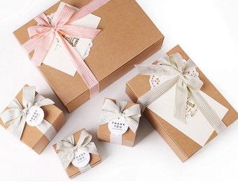 5 Multi purpose bakery boxes - in White or Kraft