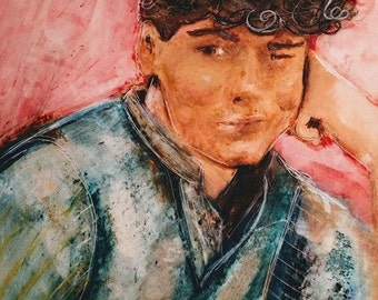 Single-Subject COMMISSIONED CUSTOM ARTWORK Encaustic, Charcoal, or Pen & Ink