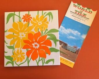 Vintage 70's Tile Trivet from World of Tile