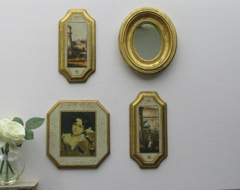vintage Italian Florentine Collage - 4 piece wall art collection