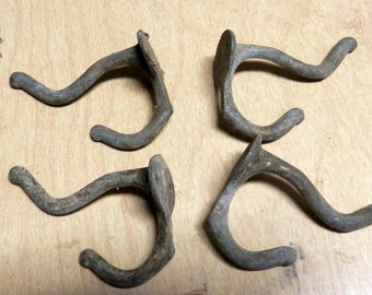 6 Vintage hall tree hooks