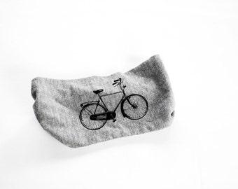 Bike Head Band - Womens Head Band-  Unisex - Heather Grey Bicycle, Bike - turban - hat - headwear - hair accessories