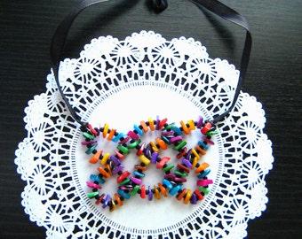 Colorful Adjustable Choker Necklace  Statement Choker Necklace Colorful Necklace Bohemian Necklace Frida Kahlo Gift for Her Christmas