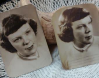 Vintage Photograph, Woman, 2 Photos, Photo Lot, Portrait, 1940's, Retro