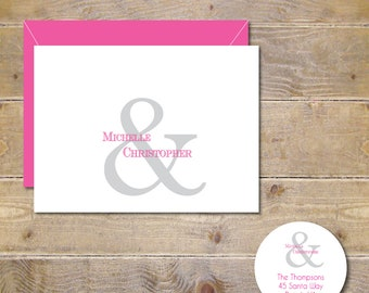 Ampersand Wedding Thank You Cards, Ampersand,  Wedding Thank Yous, Bridal Shower, Wedding Thank You Cards, Wedding Thank You Notes