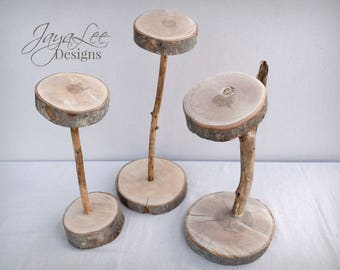 Rustic Wood Hat Stands - Hat Store Display