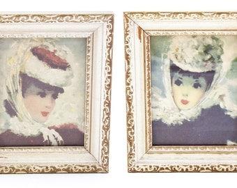 Vintage Parisian Ladies Prints - Set of Two