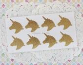 Unicorn Stickers - Handmade Stickers - Glitter Unicorn Stickers - Gift Wrapping Supplies - Seal Sticker - 3.5x4 cms - Made to Order