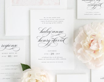 Haley Wedding Invitations - Deposit