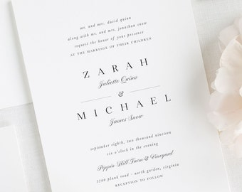Zarah Wedding Invitations - Deposit