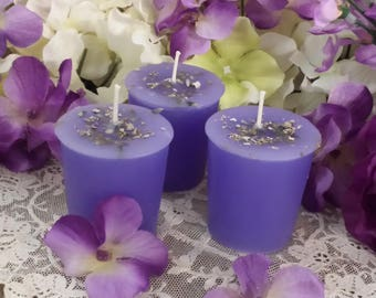 2 White Sage & Lavender, Cleansing Candles, Smudging Candles, Ritual Candles,  Sacred White Sage