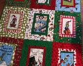 Grinch Christmas Quilt Dr. Seuss red, green, blue