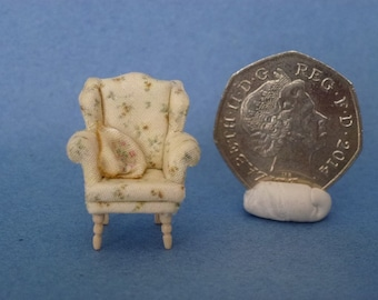 Wing chair 1.48th 1/4 quarter scale